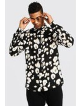 Leopard Print Long Sleeve Shirt by Boohoo Man
