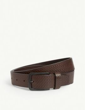 Monogram Leather Belt by Boss