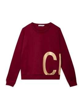 Foil Logo Sweatshirt   Burgundy by Calvin Klein Jeans