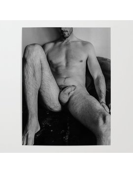 Relaxed Male Nude Poster by Society6