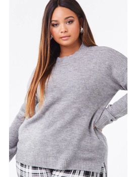 Plus Size High Low Sweater by Forever 21