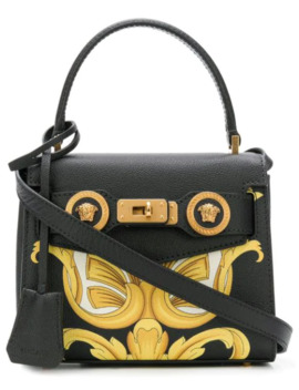 Mini Printed Tote by Versace