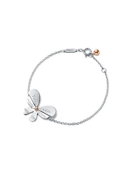 Return To Tiffany® Love Bugs        Butterfly Chain Bracelet In Sterling Silver And 18k Rose Gold by Return To Tiffany® Love Bugs