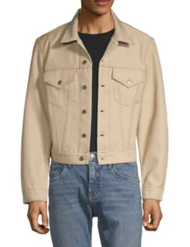 Cotton Blend Trucker Jacket by Helmut Lang