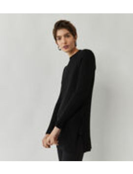 Longline Rib Jumper by Warehouse