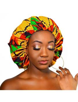 African Print Bonnet, Satin Lined Bonnet, Ankara Satin Hair Bonnet, Hair Bonnet, Kente Hair Bonnet Taiwo by Etsy