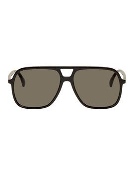Black Ultralight Pilot Sunglasses by Gucci