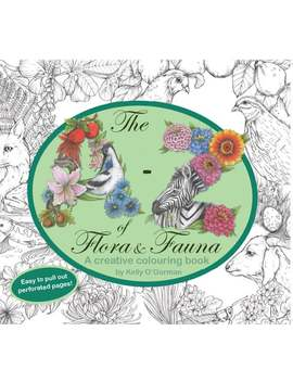 The A Z Of Flora And Fauna   A Creative Colouring Book By Kelly O'gorman by Etsy