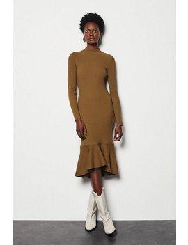 Drape Skirt Rib Knit Dress Drape Skirt Rib Knit Dress by Karen Millen
