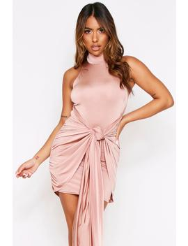 Exaggerated Tie Slinky Dressexaggerated Tie Slinky Dress by Misspap