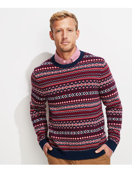 Traditional Fair Isle Crewneck Sweater by Vineyard Vines