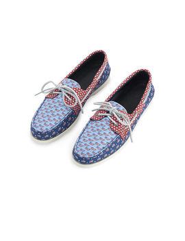 Mens Sperry X Vineyard Vines Americana Patchwork Authentic Original Boat Shoe by Vineyard Vines