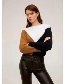 Pull Over Maille Tricolore by Mango