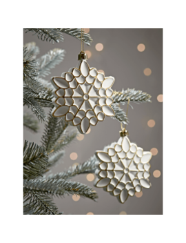 New Six Soft Geometric Shatterproof Snowflakes by Cox & Cox