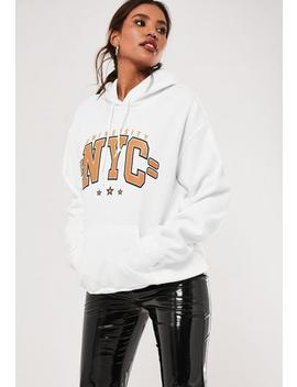 White Nyc Graphic Hoodie by Missguided