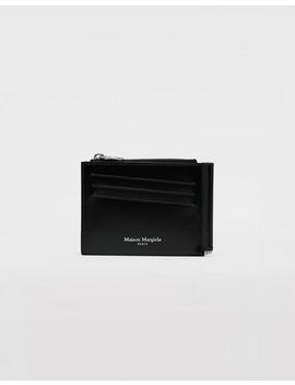 Zweifach Klappbare Brieftasche Aus Kalbsleder by Maison Margiela
