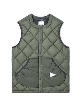 And Wander Diamond Stitch Down Vest by And Wander