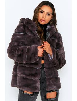 Faux Fur Pannel Hooded Coat Faux Fur Pannel Hooded Coat by Misspap