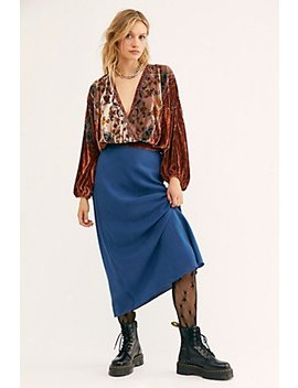Washed Silk Midi Skirt by Free People