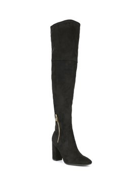 Hiva Stretch Over The Knee Block Heel Boots by Guess