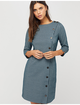 Henny Houndstooth Jacquard Dress by Monsoon