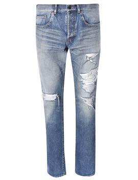 Saint Laurent Distressed Jeans by Saint Laurent