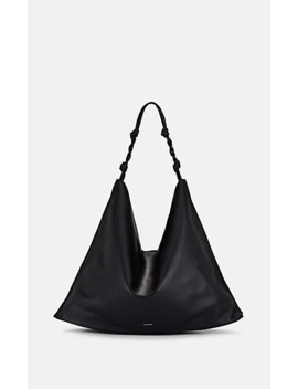 Tangle Leather Hobo Bag by Jil Sander