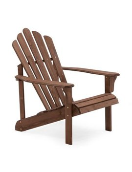 Coral Coast Hubbard Wooden Adirondack Chair   Dark Brown by Coral Coast
