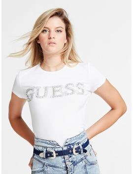 T Shirt Logo Applicazioni Gioiello by Guess