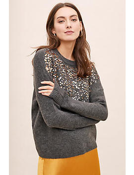 Vanessa Sequinned Jumper by Anthropologie