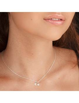 Tiny Moon & Star Necklace by Lucy Ashton Jewellery