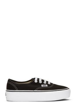 Black Ua Authentic Platform 2.0 Sneakers by Vans