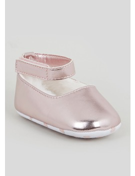 Girls Pink Soft Sole Baby Shoes (Newborn 18mths) by Matalan
