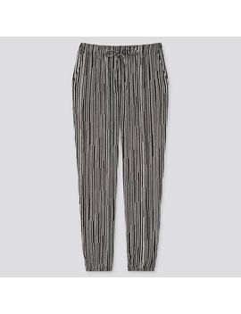 Women Drape Jogger Pants (Wood Striped) by Uniqlo