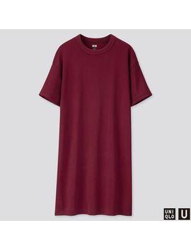 Women Uniqlo U Crew Neck Short Sleeve T Shirt Dress by Uniqlo
