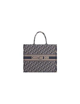 Dior Book Tote Oblique Navy Blue by Stock X