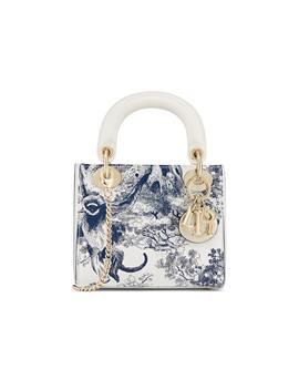Dior Lady Dior Toile De Jouy Mini Blue by Stock X