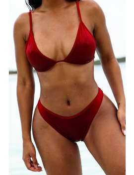 Burnt Orange Antigua Triangle Bikini Set by Lounge
