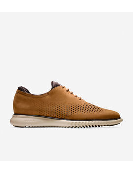2.ZerØgrand Lined Laser Wingtip Oxford by Cole Haan