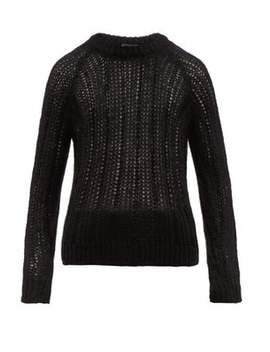 Garter Lace Knitted Mohair Blend Sweater by Prada