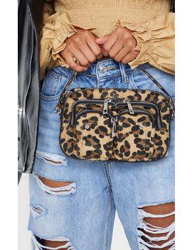 Leopard Faux Pony Hair Multi Pocket Cross Body Bag by Prettylittlething