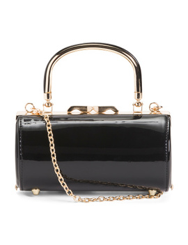 Top Handle Cylinder Bag With Shoulder Chain Strap by Tj Maxx