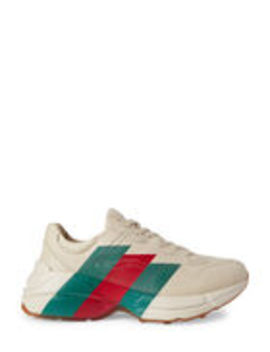 Men's Rhyton Stripe Low Top Sneakers by Gucci