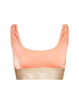 Peach Diamante High Leg Bikini Bottom by Prettylittlething
