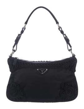 Embroidered Tessuto Shoulder Bag by Prada