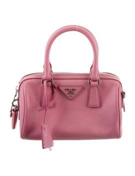 Saffiano Lux Mini Bauletto Bag by Prada