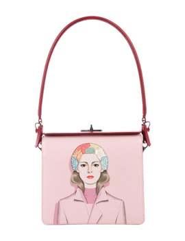Saffiano Girl Print Shoulder Bag by Prada