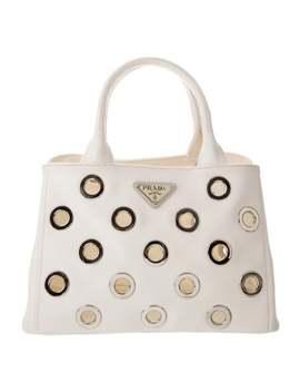 Canapa Grommet Handle Bag by Prada
