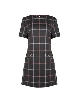 **Tall Black Check Print Tunic by Dorothy Perkins