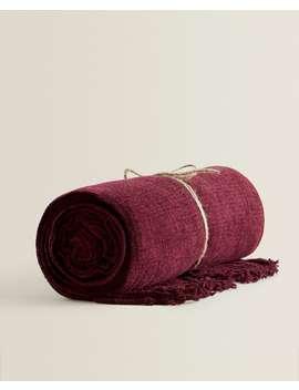 Plain Weave Chenille Blanket  Blankets   Bedroom by Zara Home